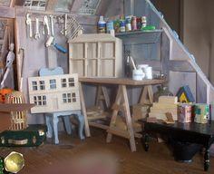 dollhouse 4 the third floor boys room, sewing room, attic