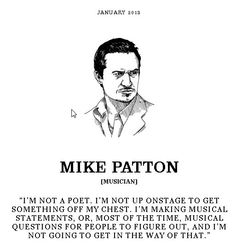 Click on the image to link to the most in-depth interview I've ever read with Mike Patton.