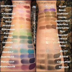 Younique Shimmer and Matte Eye Pigment Swatches