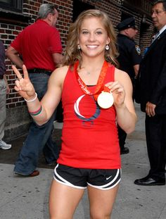 The gymnast Shawn Johnson became America's sweetheart when she competed and won multiple medals in Beijing.