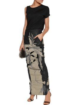 Shop on-sale Rick Owens Embroidered cotton-shell maxi skirt. Browse other discount designer Skirts & more on The Most Fashionable Fashion Outlet, THE OUTNET.COM
