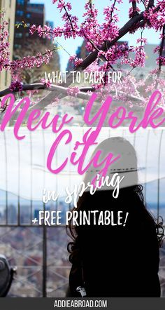 Want to know what to pack for New York City in Spring? Here's your ultimate spring in New York City packing list!