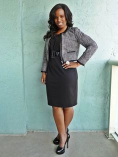 Love the blazer with this dress.