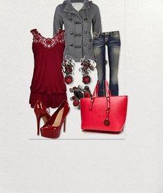 Brand New Trendy Red Leather Travel Handbag Tote