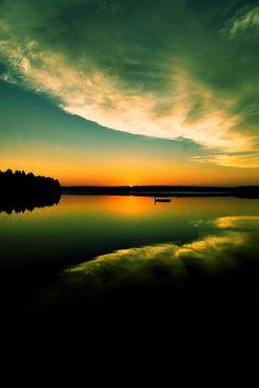 Cross Processed Sunset Photo. Beautiful Nature