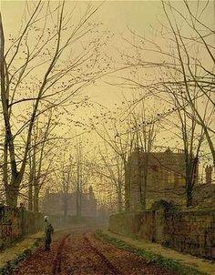 John Atkinson Grimshaw (1836-1893) Autumn Evening (1883)