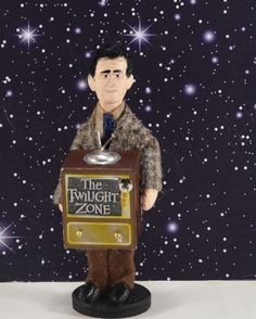 Rod Serling Doll Art Miniature Creator of The by UneekDollDesigns