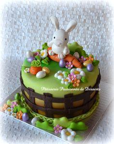 Easter rabbit cake  Gâteau lapin de Pâques