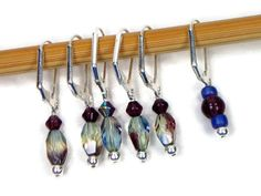 Locking Removable Stitch Markers Crochet Beaded by TJBdesigns