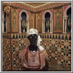 Statue in Mauritanian Parlor of Yusupov Palace, Saint Petersburg, Russia.