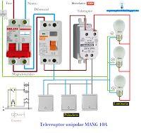 Esquemas eléctricos: Esquema eléctrico telerruptor unipolar