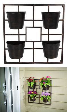 This Vigoro Planter Grid lets you grow plants, flowers or fresh herbs vertically in your kitchen, entryway, balcony, deck or anywhere space is tight and receives direct sunlight. Great for gardening in small spaces.