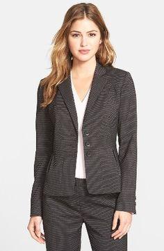 Halogen® 'Darling Dot' Suit Jacket www.teelieturner.com #fashion