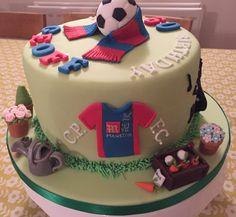 Football & other hobbies birthday cake