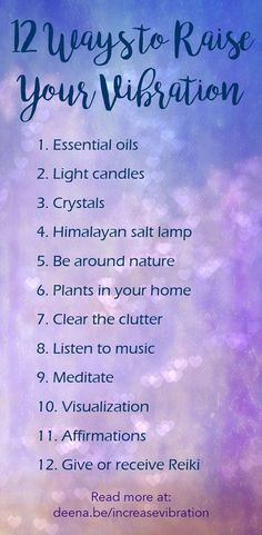 Ways to Raise Your Vibration Discover how to quickly and easily raise your vibration with these 12 fun and easy actions you can take today!Discover how to quickly and easily raise your vibration with these 12 fun and easy actions you can take today! Meditation Mantra, Spiritual Meditation, Healing Meditation, Mindfulness Meditation, Chakra Healing, Usui Reiki, Positive Energie, Stress, New Energy