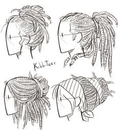 Dreadlocks Reference Sheet by Kibbitzer on DeviantArt
