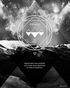 Superb Owl & the Sacred Geometry by Julien Superb-Owl, via Behance