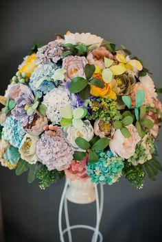Craftcrepe paper flowerpeonies and hydrangeas diycrafts diy crepe paper flowerwedding day mightylinksfo