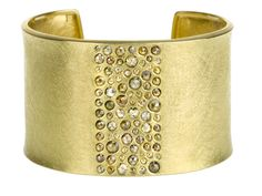 Todd Reed cuff with autumn diamonds set in 18-karat gold.