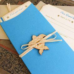 Vintage Sea Turtle Boarding Pass Wedding by beyonddesign on Etsy