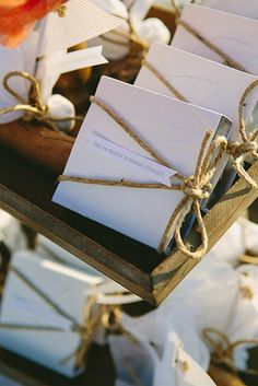 Perfect #wedding _favors for an #island_wedding! See more here http://www.love4weddings.gr/shabby-chic-wedding-santorini/