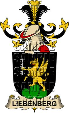 Liebenberg Family Crest apparel, Liebenberg Coat of Arms gifts