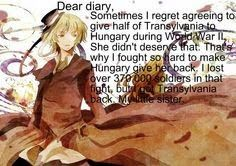 Hetalia Diary Entries Awesome Anime, Anime Love, Hetalia Romania, Hetalia Headcanons, Hetalia Anime, Diary Entry, Hetalia Axis Powers, Dear Diary, Little Sisters