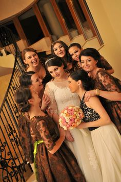Funny faces of the bridesmaids