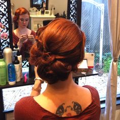 I like this for a bridesmaid's hairstyle or for an evening hairstyle for myself