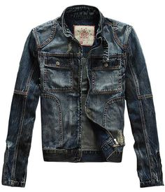 Spring -Seabar 114 Premium Denim Jacket – Leather & Cotton