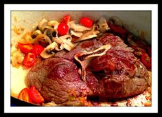.......Lj's Gourmet Kitchen......: Lj's Slow Cooked Y Bone Steak with Homegrown Cherry Tomatoes & Mushrooms