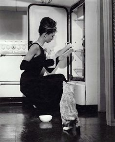 ...Oh Audrey, you even make opening the fridge look glamorous...