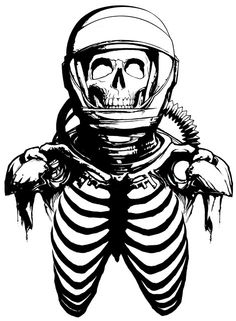 A Wolf Illustrations Blog: Skeleton Astronaut
