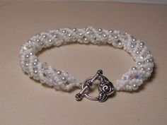 White Russian Spiral Bracelet