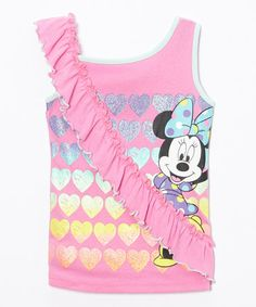 Look at this #zulilyfind! Minnie Mouse Ruffle Tank - Girls by Minnie Mouse #zulilyfinds