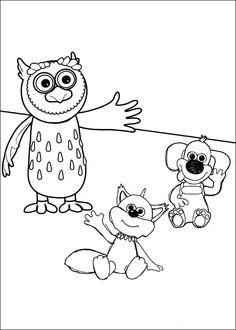 Shaun the sheep Tegninger til Farvelægning. Printbare Farvelægning for børn. Tegninger til udskriv og farve nº 9