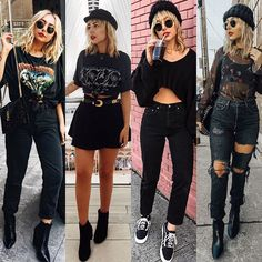 Style, Grunge, Hairstyle and Indie Outfits, Grunge Outfits, Rock Outfits, Edgy Outfits, Cute Casual Outfits, Grunge Fashion, Gothic Fashion, Look Fashion, 90s Fashion