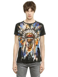BALMAIN - PRINTED COTTON T-SHIRT - LUISAVIAROMA - LUXURY SHOPPING WORLDWIDE SHIPPING - FLORENCE