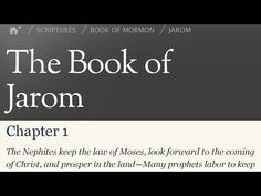 Read the Book of Mormon Jarom 1 - Kings, leaders, prophets, priests and ...