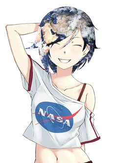 Earth-chan shy