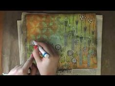Art Journaling Page: Dylusion's Garden - YouTube