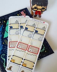 Harry Potter Inspired Hand-Drawn Quarter & Half Box Stickers For Erin Condren, Happy Planners And Many More!