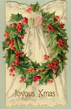 Image result for vintage cards with xmas