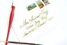 Watercolor Calligraphy Tutorial | The Postman's Knock