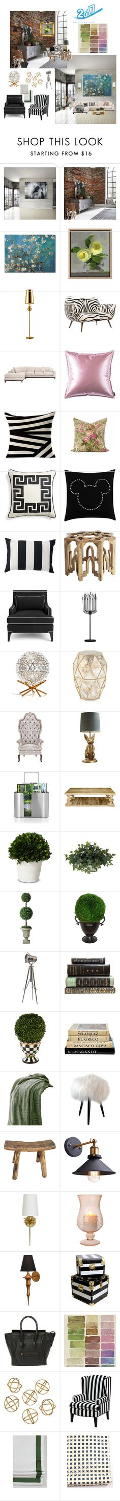 """""""New Group ... No place like Home  ( New Year New Decor ) contest"""" by deborah-518 ❤ liked on Polyvore featuring interior, interiors, interior design, home, home decor, interior decorating, Ready2hangart, Komar, Pottery Barn and Emporium Home"""