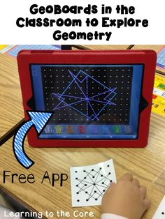 GeoBoards in the Classroom using GeoBoards to help students with geometry and shapes!