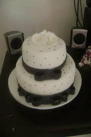 Resultado de imagem para bolo preto, branco e azul tiffany