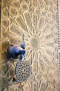 and Knocker Heavy metal doors to the Bou Inania complex in the Medina of Fes. Photographer: Christopher RoseHeavy metal doors to the Bou Inania complex in the Medina of Fes. Cool Doors, Unique Doors, Islamic Architecture, Art And Architecture, Moroccan Doors, Door Knobs And Knockers, Door Detail, Moroccan Design, Doorway