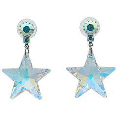 Tarina Tarantino - Opalescence Crystal Star Earrings (Crystal Ab) - Jewelry
