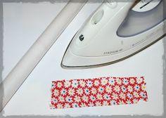 Hecho de Tela: Plastificar tela con forro de libros adhesivos